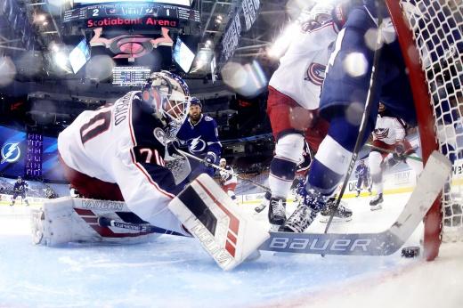 «Коламбус» — «Тампа-Бэй» — 2:3 — обзор матча НХЛ, видео лучших моментов, 16 августа 2020