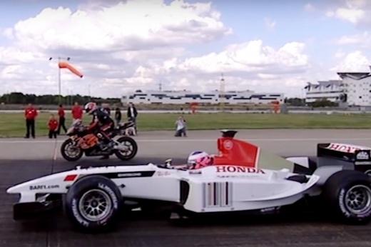 Кто быстрее: Формула-1 или супербайк? Ещё есть мегалодка, но она не в счёт