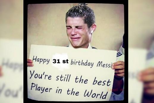 «С днём рождения, Месси! Ты по-прежнему лучший в мире»