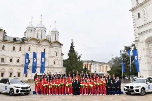 The Russian Olympians were presented with luxurious cars.  Champion BMW costs 5.9 million rubles!