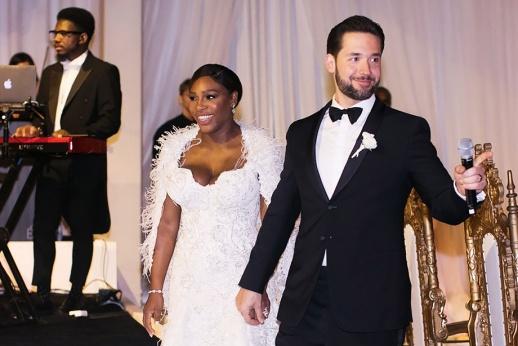 Свадьба Серены Уильямс. «Красавица и чудовище» на фоне «шлемов»