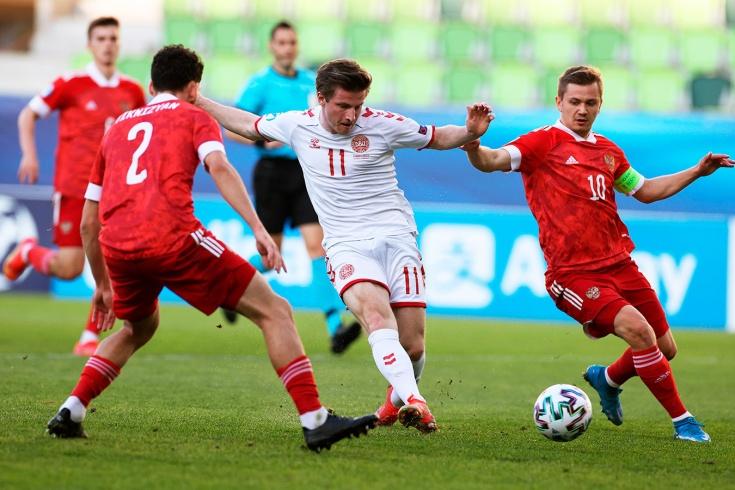 Дания – Россия – 3:0, видео, голы, обзор матча, 31 марта 2021 года, молодёжный Евро-2021