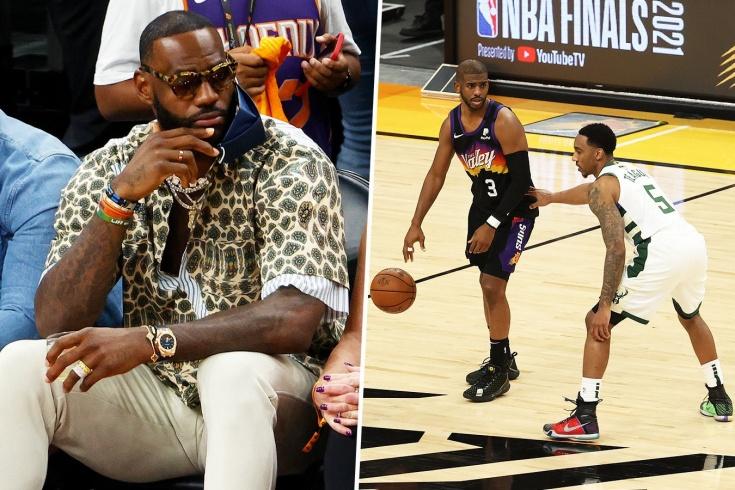 «Финикс Санз» проиграл «Милуоки Бакс» в пятом матче финала НБА, Крис Пол не смог победить в присутствии Леброна Джеймса