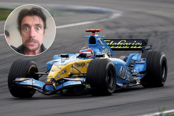 Ведущий Tog Gear тестирует болид Формулы-1