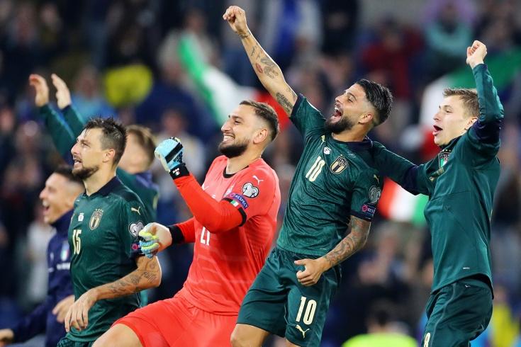 Отбор Евро-2020, обзор матчей 12 октября 2019 года, зелёная форма Италии - Чемпионат