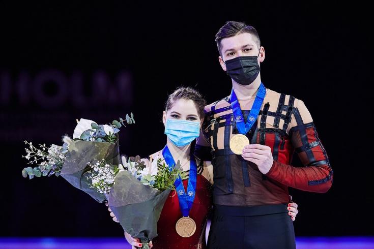 ЧМ по фигурному катанию 2021, произвольная программа, спортивные пары — Мишина и Галлямов принесли России золото: видео