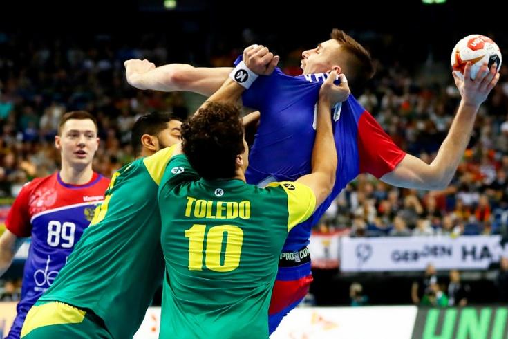 Гандбол, чемпионат мира, Россия проиграла Бразилии