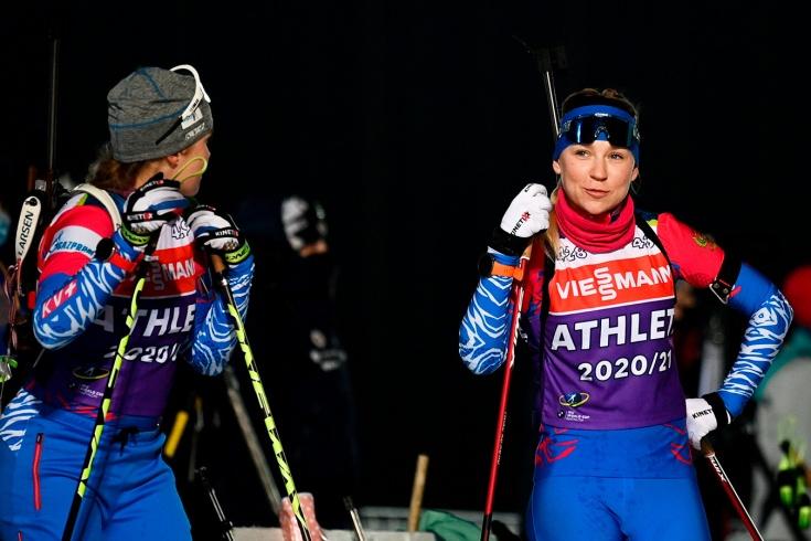 Женская сборная России по биатлону осталась без медалей в спринте в Контиолахти