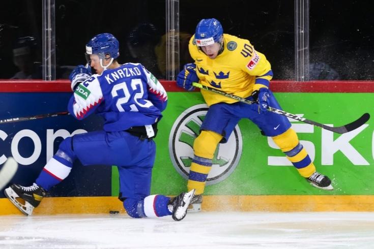 Швеция — Словакия — 3:1 — видео, голы, обзор матча чемпионата мира по хоккею — 2021