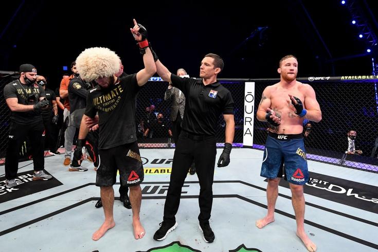Олег Тактаров назвал бой Хабиба Нурмагомедова и Джастина Гэтжи на UFC 254 договорным