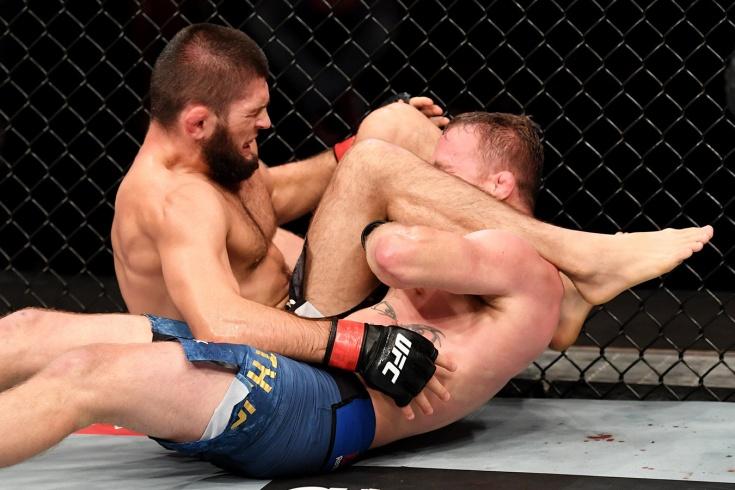 Видео боя Хабиб Нурмагомедов — Джастин Гейджи, UFC 254, 24 октября 2020