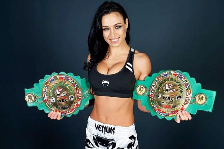 Украинская девушка-боец Лена Овчинникова выступит на турнире Bellator 261, эффектные фото