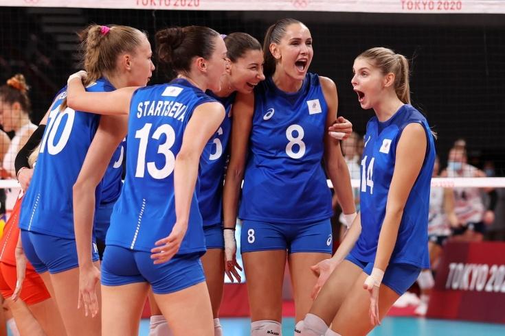 Волейбол на ОИ, женщины, Россия – США, обзор матча