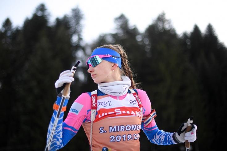 Биатлонистка Миронова стала четвёртой в спринте