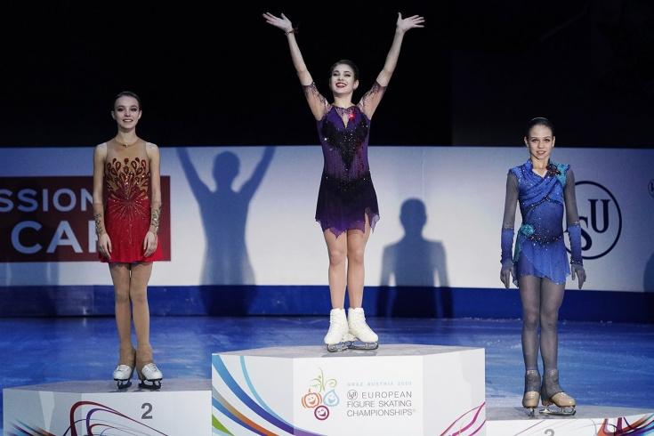 Косторная, Щербакова и Трусова с падениями заняли весь пьедестал на чемпионате Европы