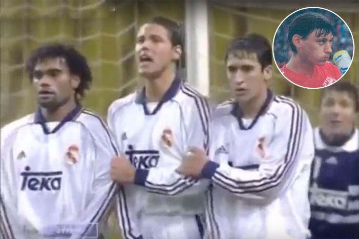 Гол Ильи Цымбаларя, видео, «Спартак» — «Реал» — 2:1, ЛЧ — 1998/1999
