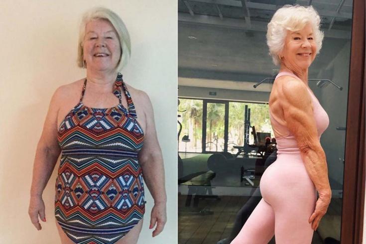 Как бабушке удалось похудеть на 25 кг и накачаться