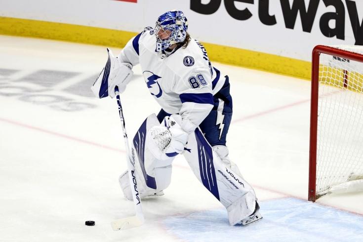 «Айлендерс» — «Тампа» — 1:2 — видео, голы, обзор матча плей-офф НХЛ, Василевский установил российский рекорд НХЛ