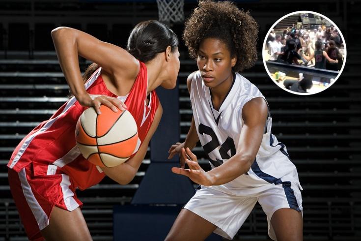 США, драка женщин в баскетболе — скандал
