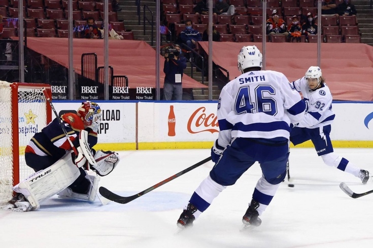 Флорида — Тампа-Бэй — 1:6 – видео, голы, обзор матча регулярного чемпионата НХЛ 2021