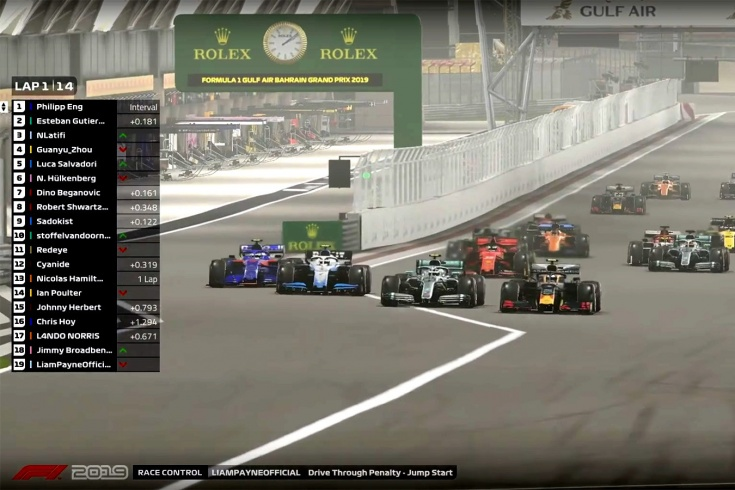 У виртуальной Формулы-1 пока всё плохо