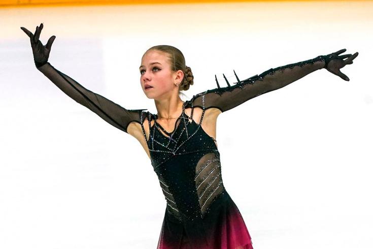 Александра Трусова, произвольная программа на Чемпионате мира по фигурному катанию 2021, видео, смотреть онлайн