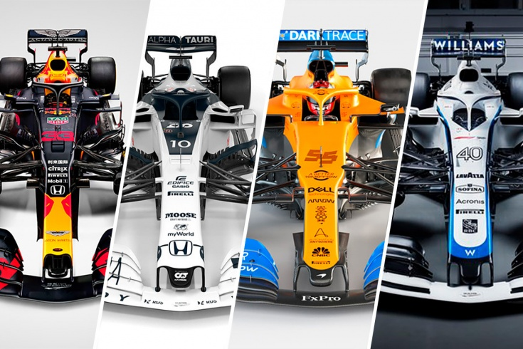 У какой машины Формулы-1 самая красивая раскраска? Выбираем!