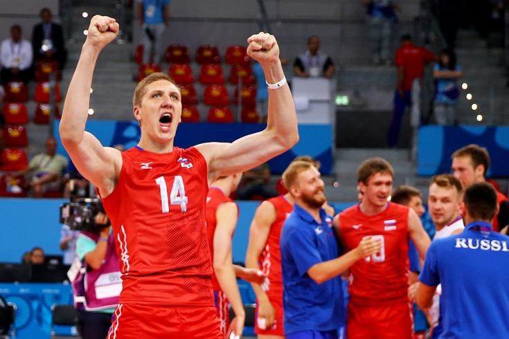 Игрок сборной России по волейболу Кимеров