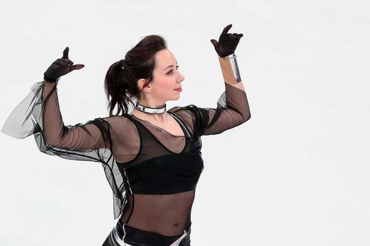Елизавета Туктамышева, короткая программа, чемпионат мира по фигурному катанию — 2021, видео, смотреть онлайн