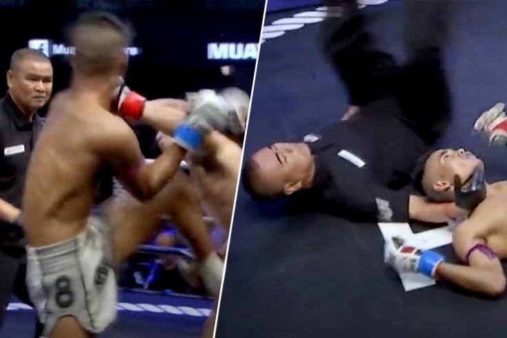 Неймара отправили в нокаут брутальным ударом локтем в голову, видео
