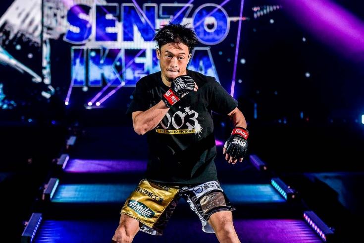 Сензо Икеда, готовясь к бою на ONE Championship, бил себя по лицу, видео