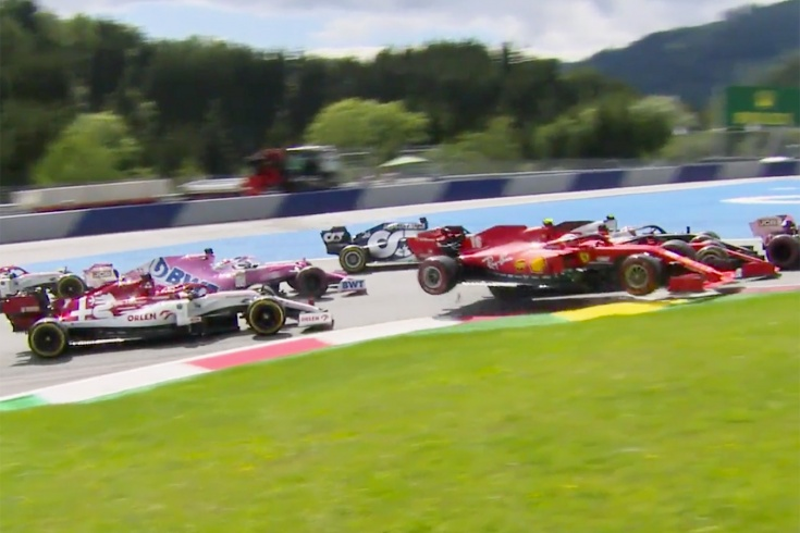 Столкновение Леклера и Феттеля на Гран-при Штирии