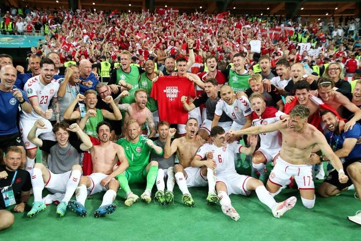 Не Россия слабая, а Дания крутая? Она уже в четвёрке лучших на Евро!