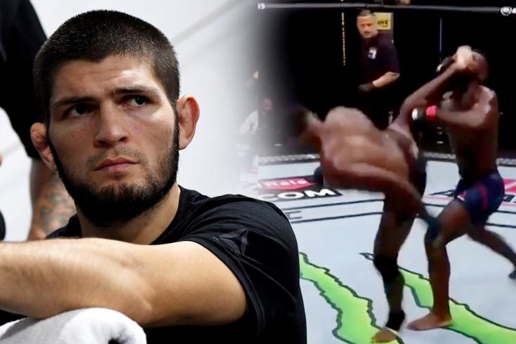 Хабиб Нурмагомедов рассказал, как случился нокаут года в UFC уникальной вертушкой