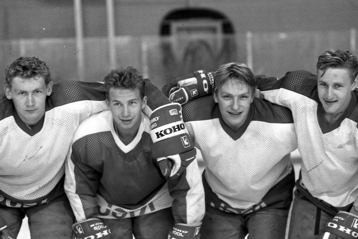 Хоккейные фотографии начала 1990-х годов