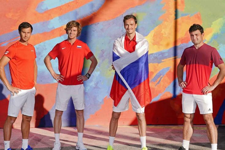 Сборная России на ATP Cup. Даниил Медведев и Андрей Рублёв победили команду Японии. Дальше полуфинал