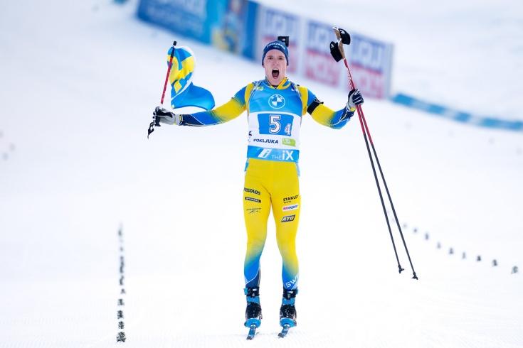 Шведский биатлонист Самуэльссон на чемпионате мира финишировал вторым с флагом – зачем?