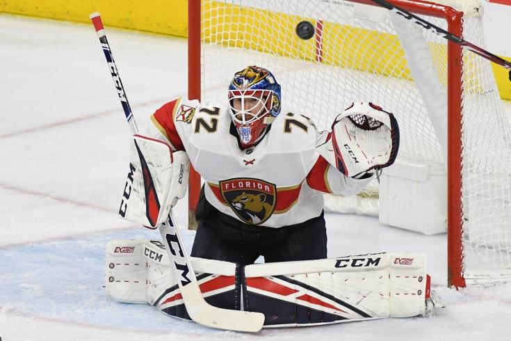 Бобровский занимает последнее место в НХЛ среди пе