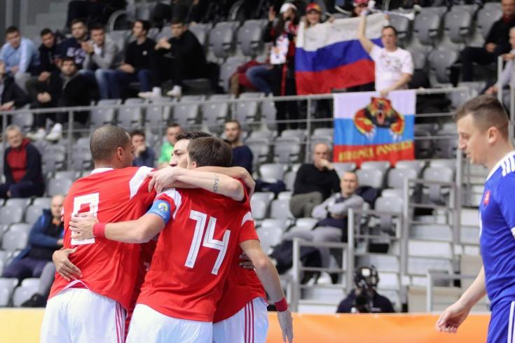 Сборная России по мини-футболу разгромила Словакию