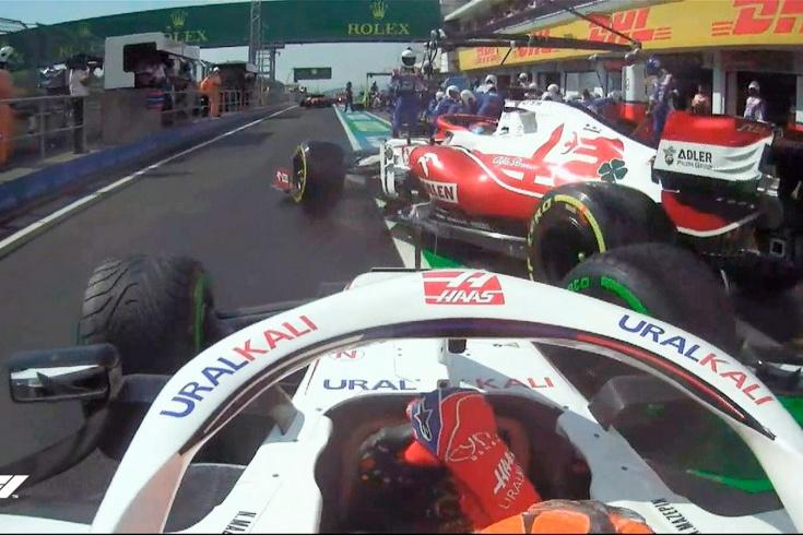 Никита Мазепин сошёл на Гран-при Венгрии Формулы-1