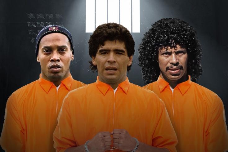 Сборная футболистов, побывавших в заключении: Роналдиньо, Марадона и другие
