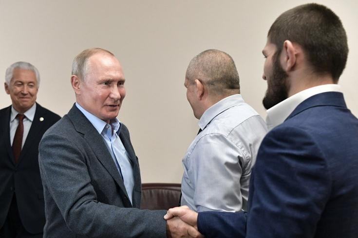 Владимир Путин и Хабиб Нурмагомедов
