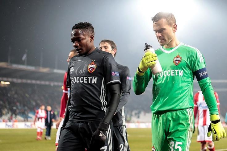 Ахмед Муса и Игорь Акинфеев