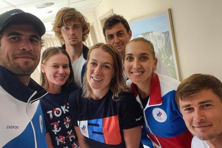 Как сборная России по теннису обустроилась в Токио