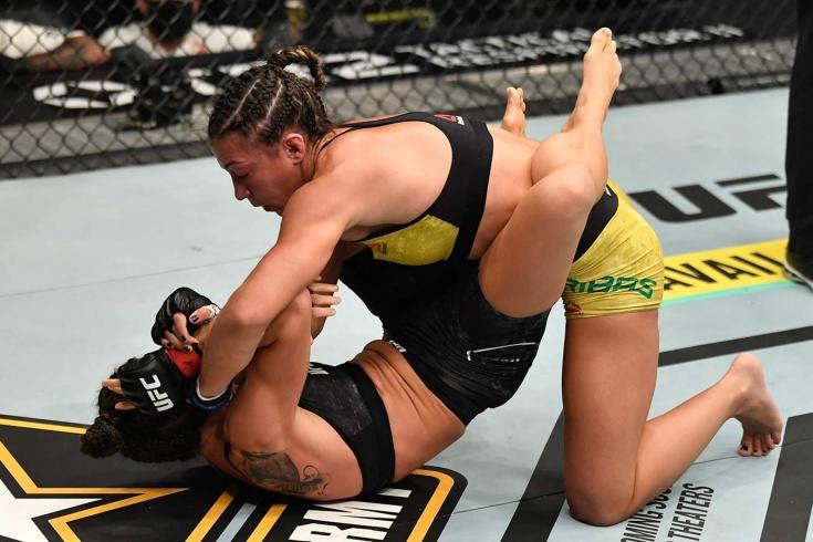 Марина Родригес нокаутировала Аманду Рибас на UFC 257 24 января 2021, видео