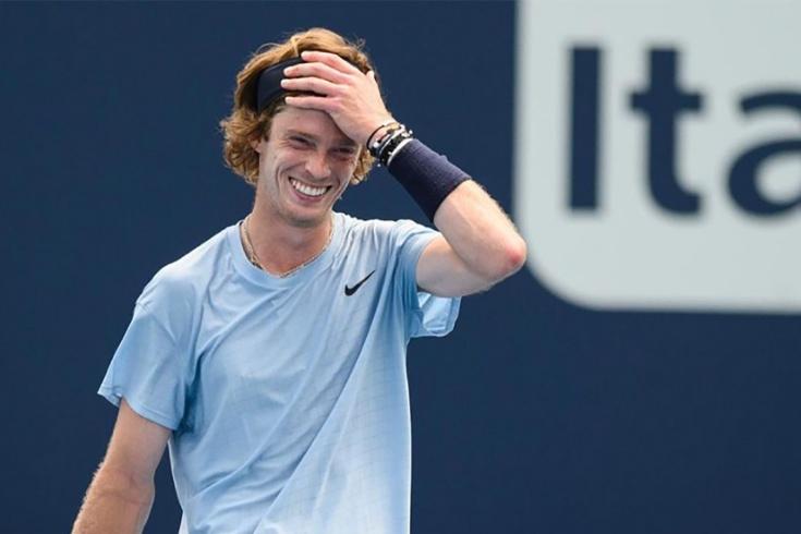 Первый полуфинал Рублёва на «Мастерсе»! Андрей остановил главную сенсацию турнира в Майами