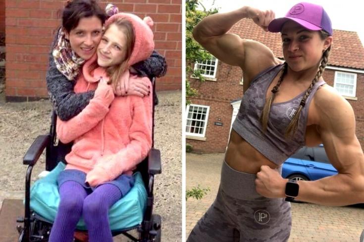 Британка Эмили Брэнд победила анорексию и стала бодибилдершей, фото