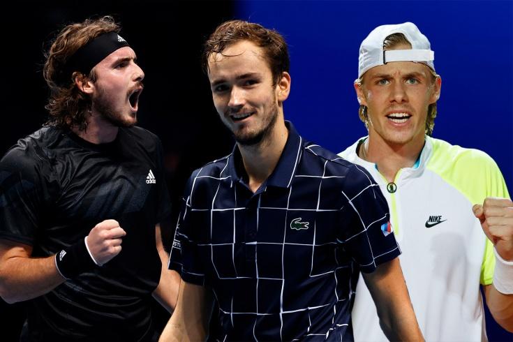Теннисисты с русскими корнями в топ-20: Медведев, Рублёв, Хачанов, Циципас, Шаповалов, Зверев