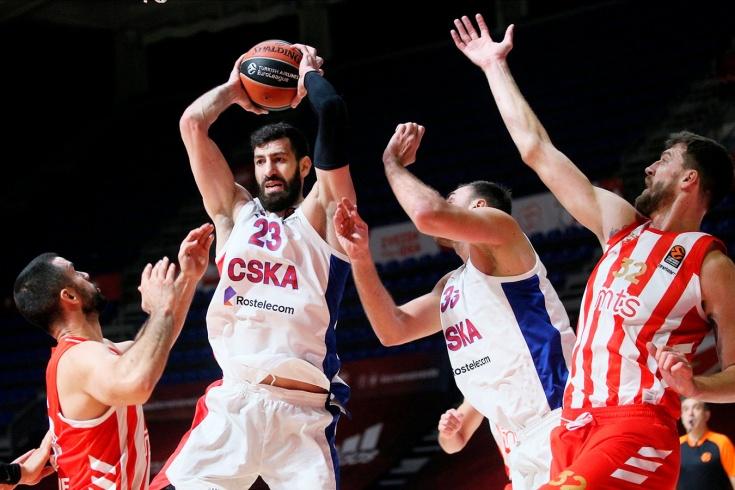 ЦСКА проиграл «Црвене Звезде» — 84:86 ОТ, обзор матча Евролиги в Белграде