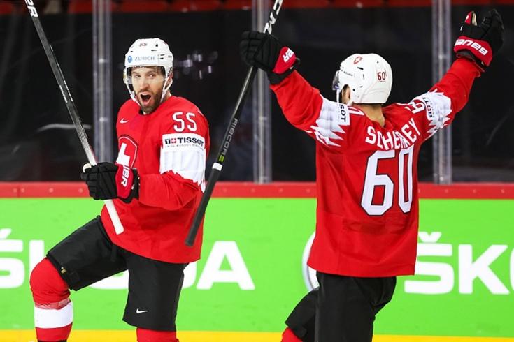 Швейцария — Словакия — 8:1 — видео, голы, обзор матча чемпионата мира по хоккею — 2021